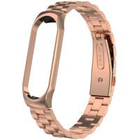 Браслет Bead Design Bracelet для Xiaomi Mi Band 3/4 Rose Gold