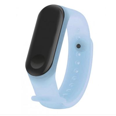 Ремешок Clear Design Bracelet для Xiaomi Mi Band 3/4 Blue