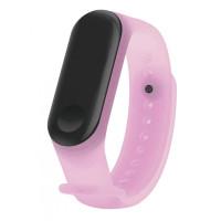 Ремешок Clear Design Bracelet для Xiaomi Mi Band 3/4 Pink