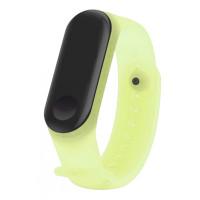 Ремешок Clear Design Bracelet для Xiaomi Mi Band 3/4 Yellow