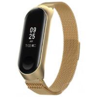 Браслет Milanese Design Bracelet для Xiaomi Mi Band 3/4 Gold
