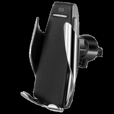 Держатель Hoco автоматический Elegant with wireless charger CA34 (silver)