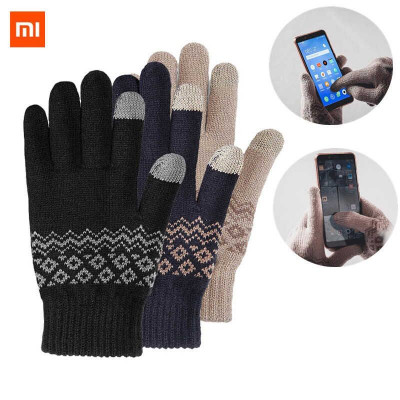 Перчатки зимние для управления смартфоном от Xiaomi FO Touch Screen Warm Velvet Gloves (Black, Blue, Brown)