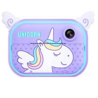 Детская фото-видео камера с моментальной печатью Unicorn WiFi (ZY-C3)