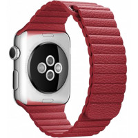 Браслет Apple Watch Leather Loop Bracelet 42/44mm Red