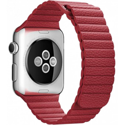 Браслет Apple Watch Leather Loop Bracelet 38/40mm Red