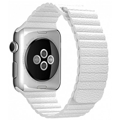 Браслет Apple Watch Leather Loop Bracelet 38/40mm White