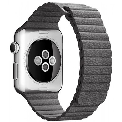 Браслет Apple Watch Leather Loop Bracelet 38/40mm Gray