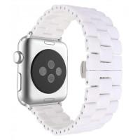 Браслет для Apple Watch Ceramic Square Design Bracelet 38/40mm White