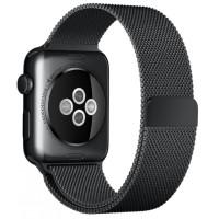 Браслет для Apple Watch Milanese Loop Steel Bracelet 42/44mm Black