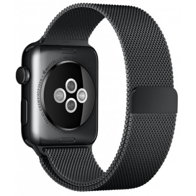Браслет для Apple Watch Milanese Loop Steel Bracelet 38/40mm Black