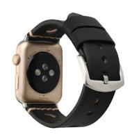 Ремешок для Apple Watch Leather Bracelet Series Ancient 42/44mm Black