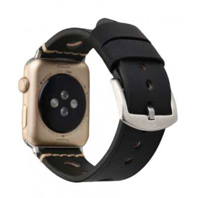 Ремешок для Apple Watch Leather Bracelet Series Ancient 38/40mm Black