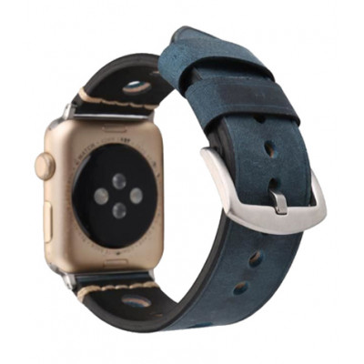 Ремешок для Apple Watch Leather Bracelet Series Ancient 38/40mm Blue