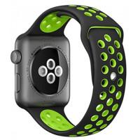 Ремешок для Apple Watch Silicone Nike Design 38/40mm Black/Green