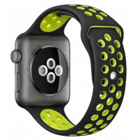 Ремешок для Apple Watch Silicone Nike Design 38/40mm Black/Yellow