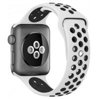 Ремешок для Apple Watch Silicone Nike Design 42/44mm Silver/Black