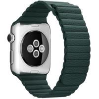 Браслет Apple Watch Leather Loop Bracelet 38/40mm Green