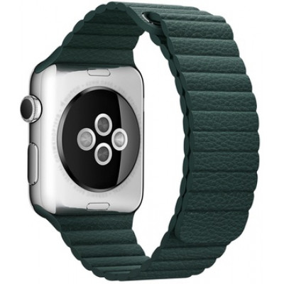 Браслет Apple Watch Leather Loop Bracelet 38/40mm Green