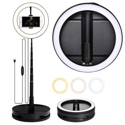 Кольцевая LED лампа G1 с держателем для смартфона с телескопической подставко