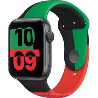 Apple Watch Series 6 (GPS) 40mm Black Unity Aluminium Case with Black Unity Sport Band (MJ6N3)