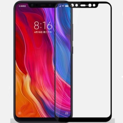 Защитное стекло Xiaomi Mi 8 5D Black (полный клей)