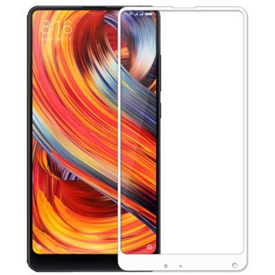 Защитное стекло Xiaomi Mi Mix 2s 5D White (полный клей)