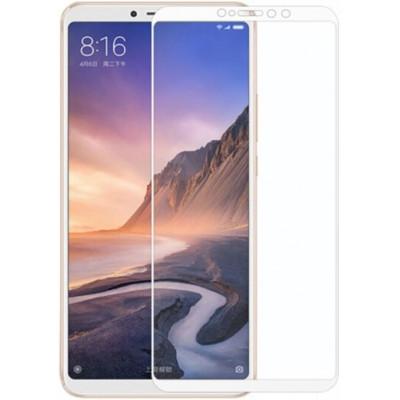 Защитное стекло Xiaomi Mi Max 3 5D White (полный клей)