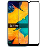 Защитное стекло Samsung A20/A30/A50/M30/A30s 5D Black (Полный клей)