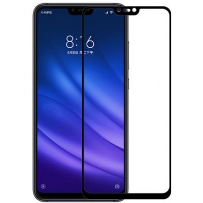 Защитное стекло Xiaomi Mi 8 Lite 5D Black (полный клей)