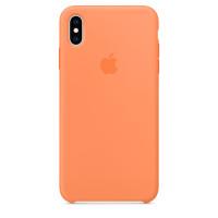 Apple Silicon Case iPhone XS Max Papaya (HC)