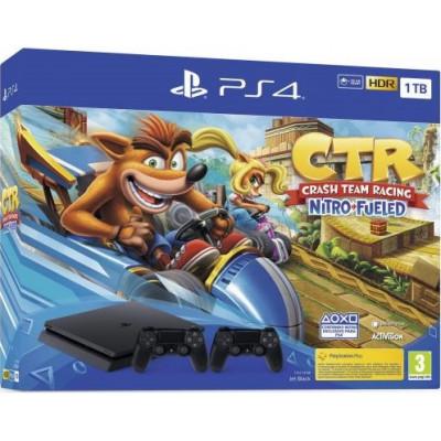 Sony Playstation 4 Slim 1Tb + Crash Team Racing Nitro-Fueled + DualShock 4 (V2) (Black)
