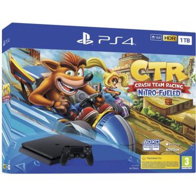 Sony Playstation 4 Slim 1Tb + Crash Team Racing Nitro-Fueled (Black)