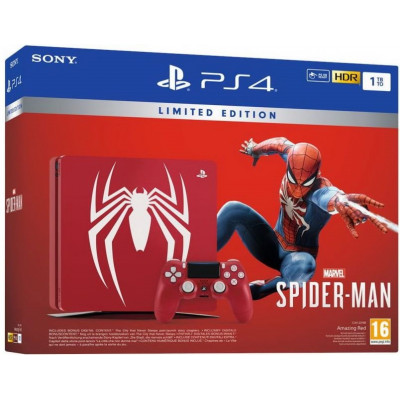 Sony PlayStation 4 Slim (PS4 Slim) 1TB with Marvels Spider-Man Limited Edition