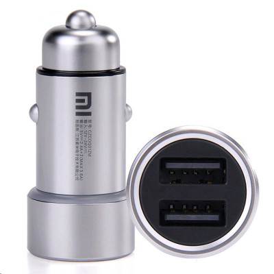 АЗУ XIAOMI MI Dual USB Car Charger (3.6A/18W, 2USB) Silver (GDS4042CN)