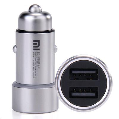 АЗУ XIAOMI MI Dual USB Car Charger (3.6A/18W, 2USB) Silver (GDS4042CN)