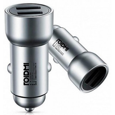 АЗУ Xiaomi RoidMi Car Charger C1 (1USBx3.6A; 1USBx2.4A) Silver