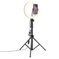 Держатель с кольцевым освещением HOCO Aesthetic light stream LV02
