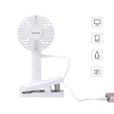 Вентилятор Awei 2в1 Clip Handheld F1 White