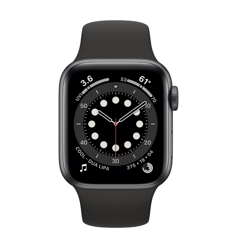Apple Watch Series 6 (GPS) 40mm Space Grey Aluminium Case with Black Sport Band (MG133)