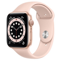 Apple Watch Series 6 (GPS) 44mm Gold Aluminium Case with Pink Sand Sport Band (M00E3)