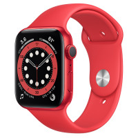 Apple Watch Series 6 (GPS) 44mm (PRODUCT)RED Aluminum Case with Red Sport Band (M00M3)