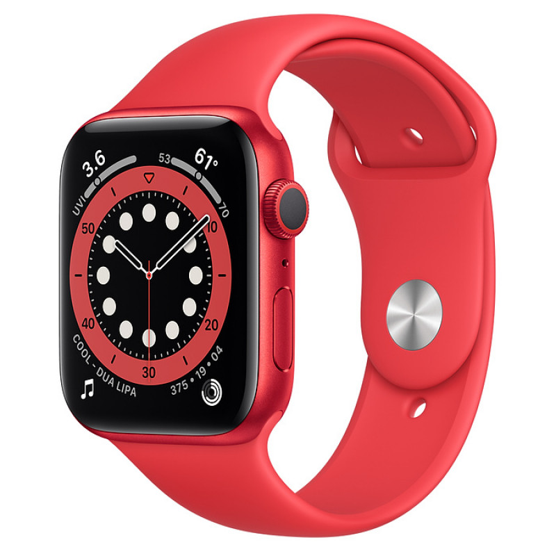 Apple Watch Series 6 (GPS) 40mm (PRODUCT) RED Aluminum Case with Red Sport Band (M00A3)