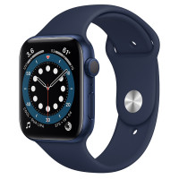 Apple Watch Series 6 (GPS) 40mm Blue Aluminum Case with Blue Sport Band (MG143)