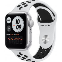 Apple Watch Nike Series SE (GPS) 40mm Silver Aluminium Case with Pure Platinum/Black Nike Sport Band (MYYD2)