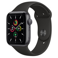 Apple Watch Series SE (GPS) 44mm Space Grey Aluminium Case with Black Sport Band (MYDT2)