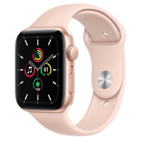 Apple Watch Series SE (GPS) 44mm Gold Aluminium Case with Pink Sand Sport Band (MYDR2)
