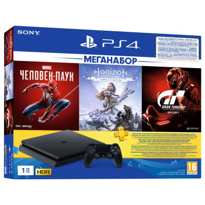 Sony PlayStation 4 Slim (PS4 Slim) 1TB + 3 игры + подписка PlayStation