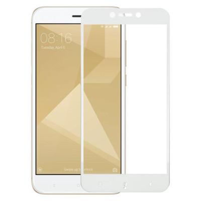 Защитное стекло Xiaomi Redmi 4x 5D White (полный клей)